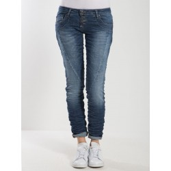 JEAN PLEASE SLIM TAILLE BASSE P68 BLUE DENIM