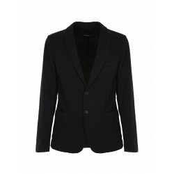 BLAZER IMPERIAL EN POINT MILANAIS COLORIS NOIR