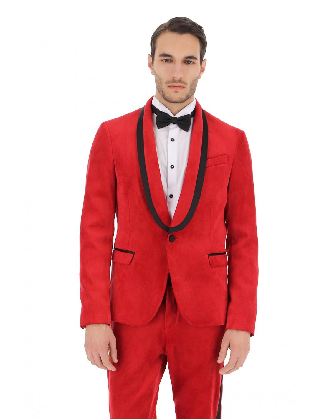 veste de smoking imperial homme en velours rouge. Black Bedroom Furniture Sets. Home Design Ideas