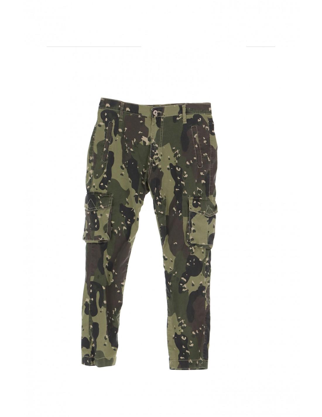 Pantalon Cargo Imprime Camouflage Please A rrq0Sg