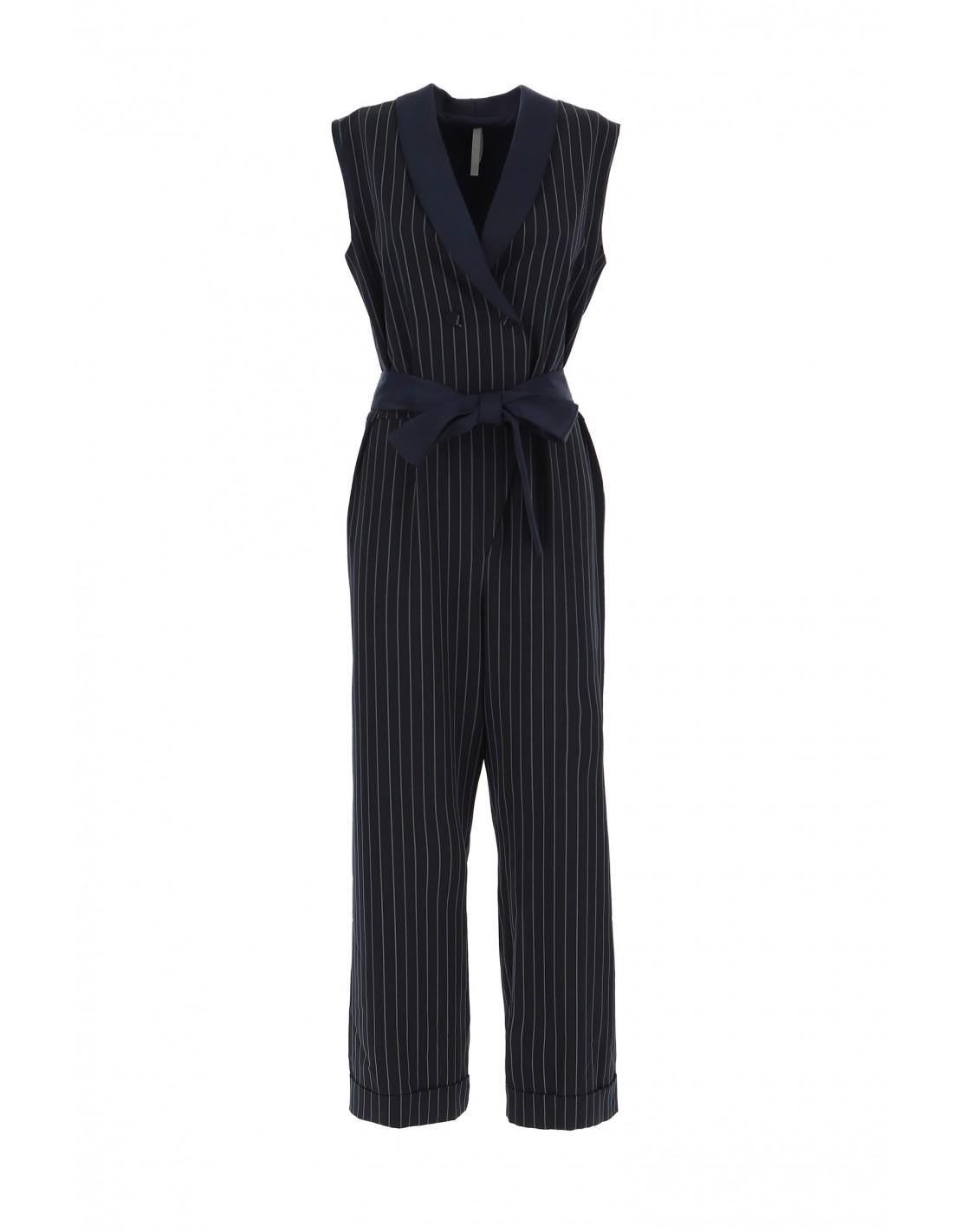 combi pantalon imperial croisee bleu marine rayee. Black Bedroom Furniture Sets. Home Design Ideas