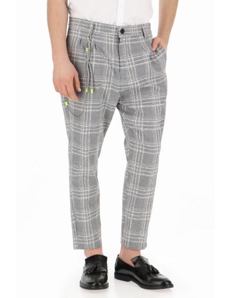 pantalon imperial homme a motif prince de galles texture. Black Bedroom Furniture Sets. Home Design Ideas